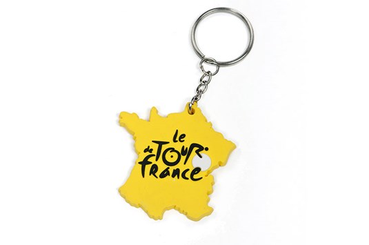 France Keyring Yellow