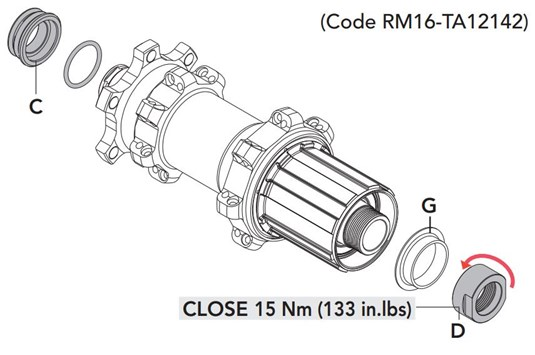 RM16-TA12142 Rear Hub Adapter Kit HH12 142mm